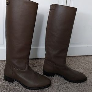 J. Crew Field Riding Boots in Dark Wood Size 7.5
